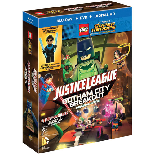 LEGO DC Super Heroes: Justice League: Gotham City Breakout (avec Figurine) (bilingue) (Blu-ray)