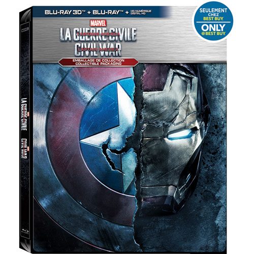 Marvel's Captain America: Civil War (Bilingual) (SteelBook) (Only at Best Buy) (3D Blu-ray) (2016)