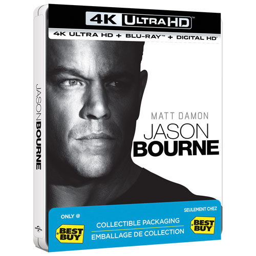 Jason Bourne (Steelbook) (Only at Best Buy) (4K Ultra HD) (Blu-ray Combo)
