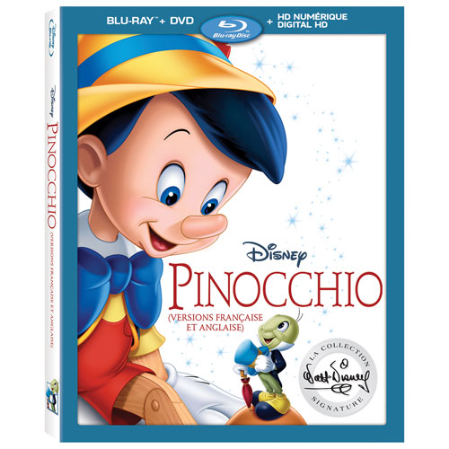 Pinocchio Walt Disney The Signature Collection (French) (Blu-ray Combo)