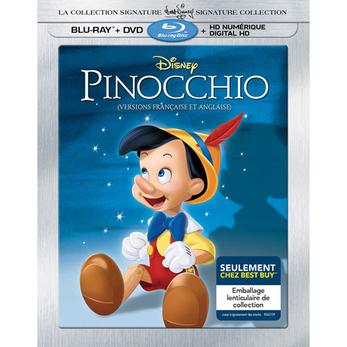 Pinocchio Walt Disney The Signature Collection (French) (Only at Best Buy) (Blu-ray Combo)
