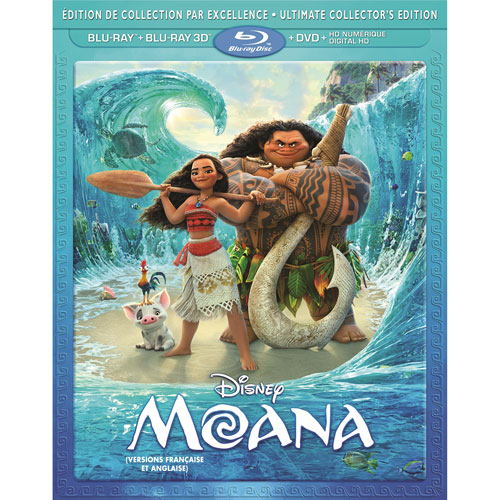 Moana (French) (Ultimate Collector's Edition) (3D Blu-ray Combo) (2016)