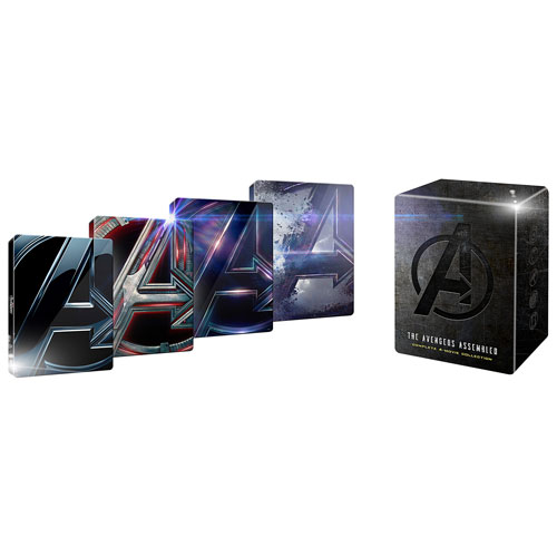 Image result for The Avengers Assembled Complete 4-Movie Collection 4k Steelbook